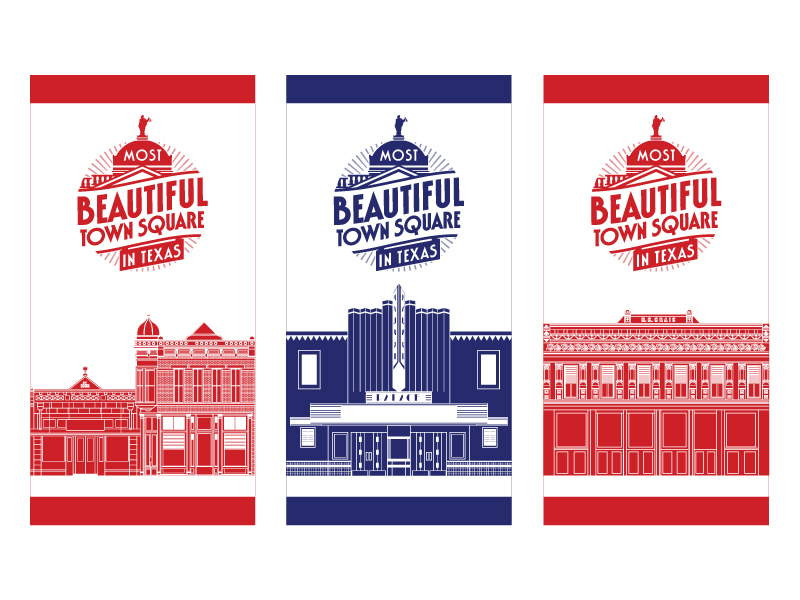Most Beautiful Town Square Building Street Pole Banners