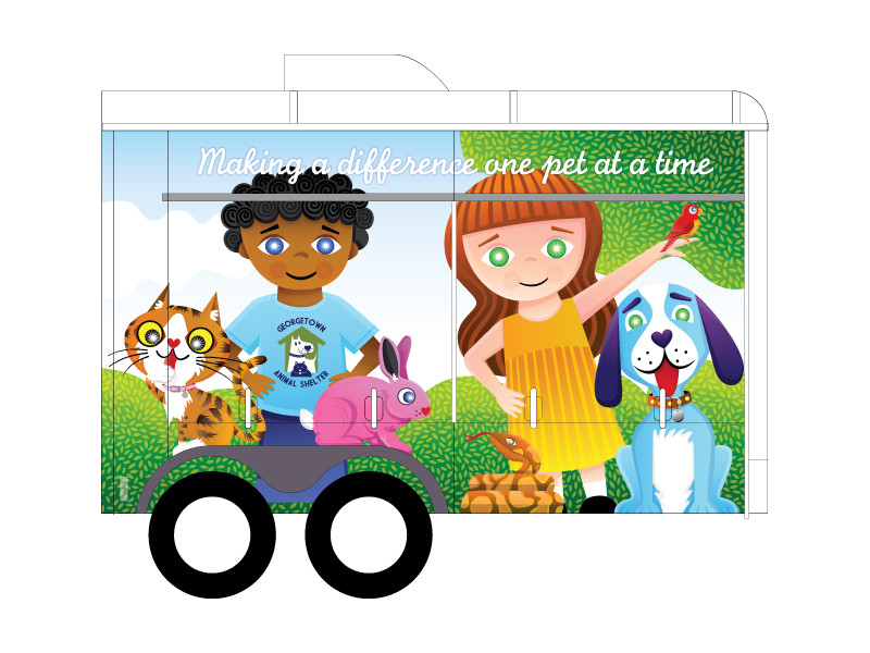 Georgetown Animal Shelter Trailer Side