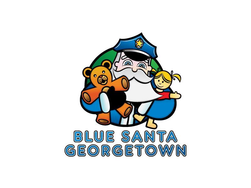 Blue Santa Georgetown Logo