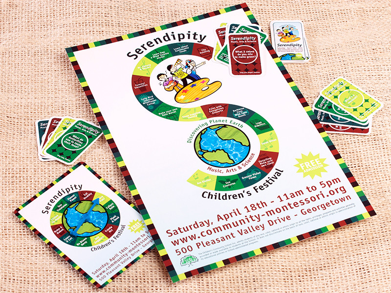Community Montessori School Serendipity Collateral