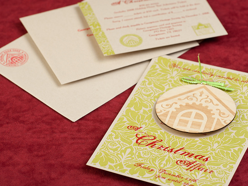 Georgetown Heritage Society Holiday Home Tour 2008 Party Invite