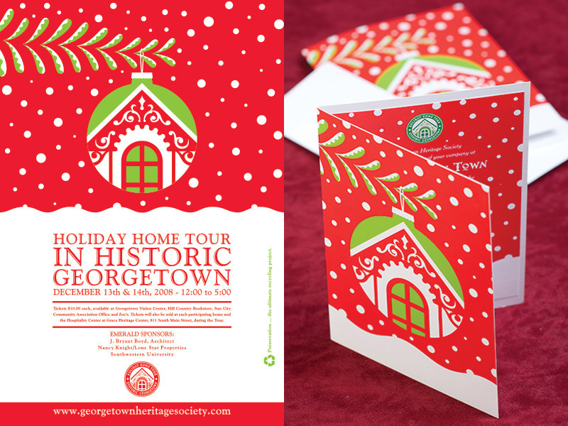 Georgetown Heritage Society Holiday Home Tour 2008 Poster Invite