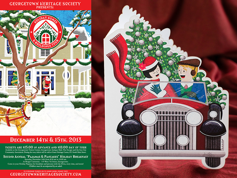Georgetown Heritage Society Holiday Home Tour 2013 Poster and Invite