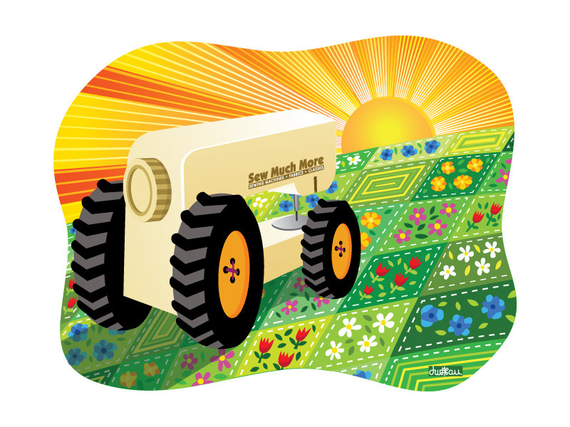 Sew Much More - Tractor Illustration