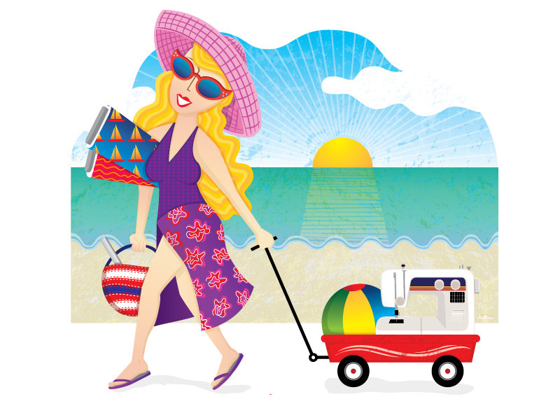 Sew Much More - Women on the beach