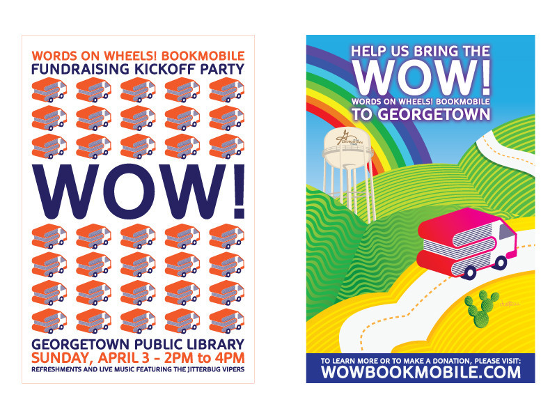 WOW Bookmobile Posters