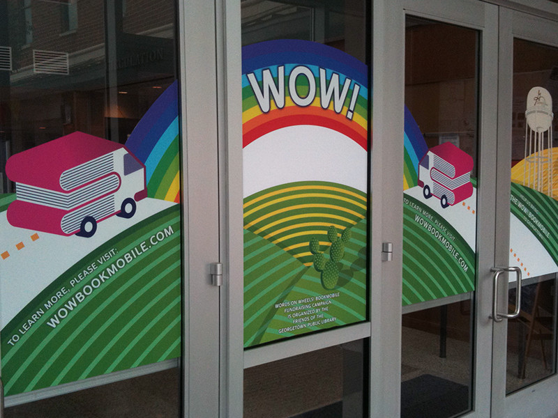 WOW Book Mobile DoorGraphics