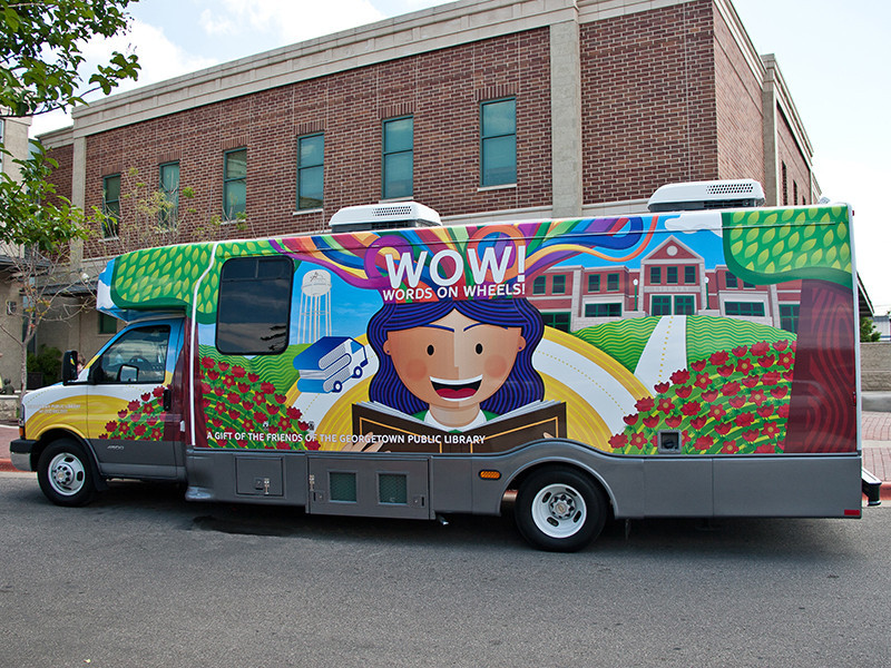 WOW Book Mobile Wrap DriverSide