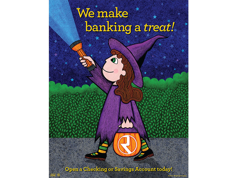 Republic Bank - Illustration Halloween