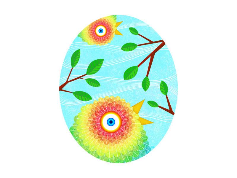 Graphismo Color Each Bird Sang Their Song