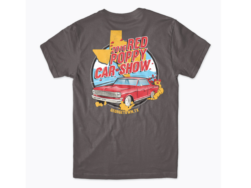 2016 Red Poppy Festival Car Show T-Shirt
