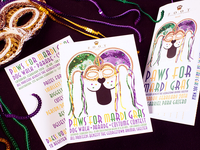 Georgetown Animal Shelter Paws For Mardi Gras Collateral