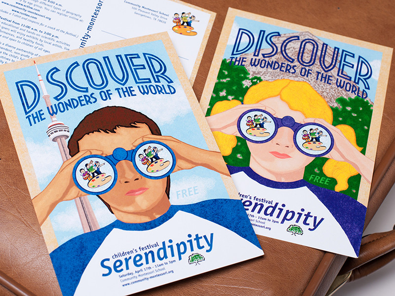 Community Montessori School Serendipity Cards
