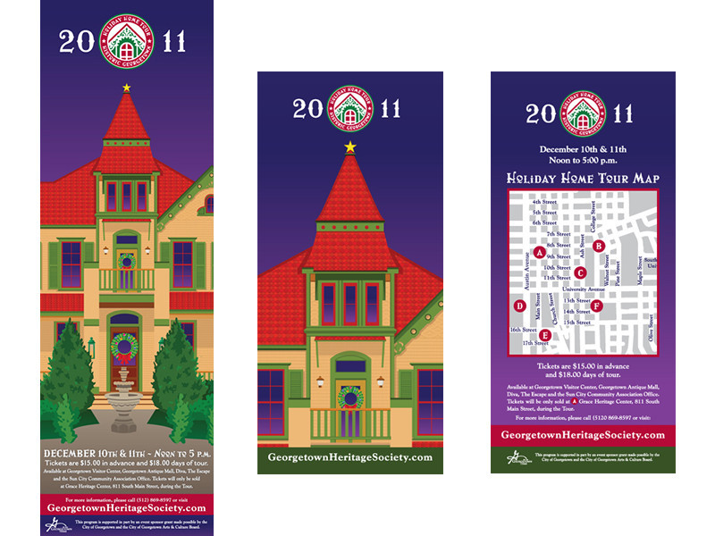 Georgetown Heritage Society Holiday Home Tour 2011 Poster