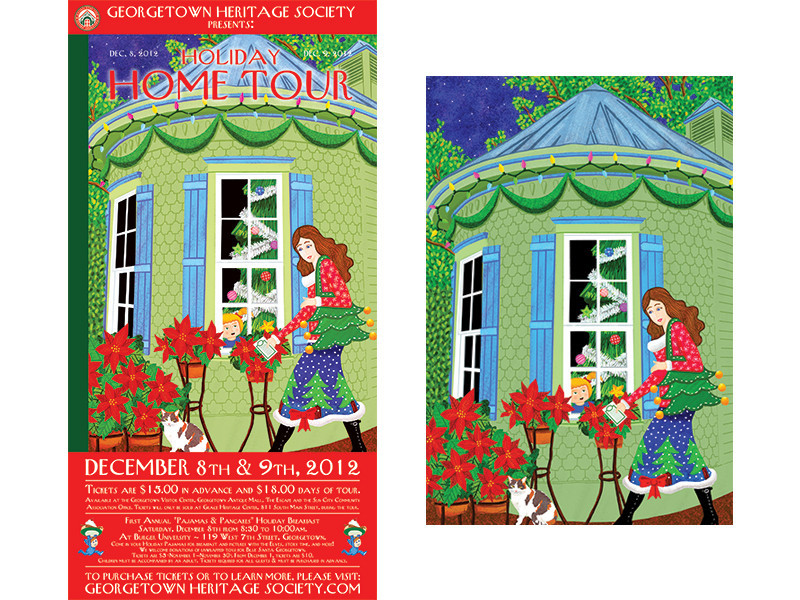 Georgetown Heritage Society Holiday Home Tour 2012 Poster
