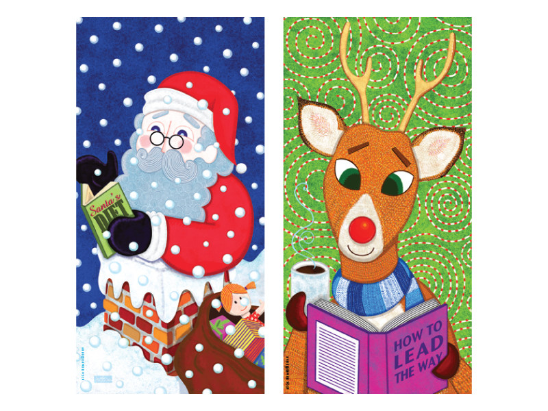 Georgetown Public Library - Xmas Banners