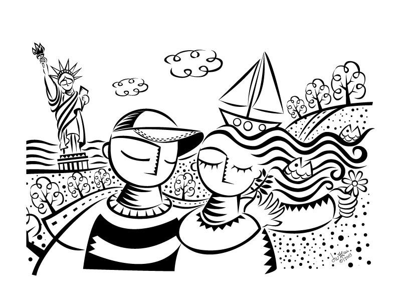 Urban Invite Illustration