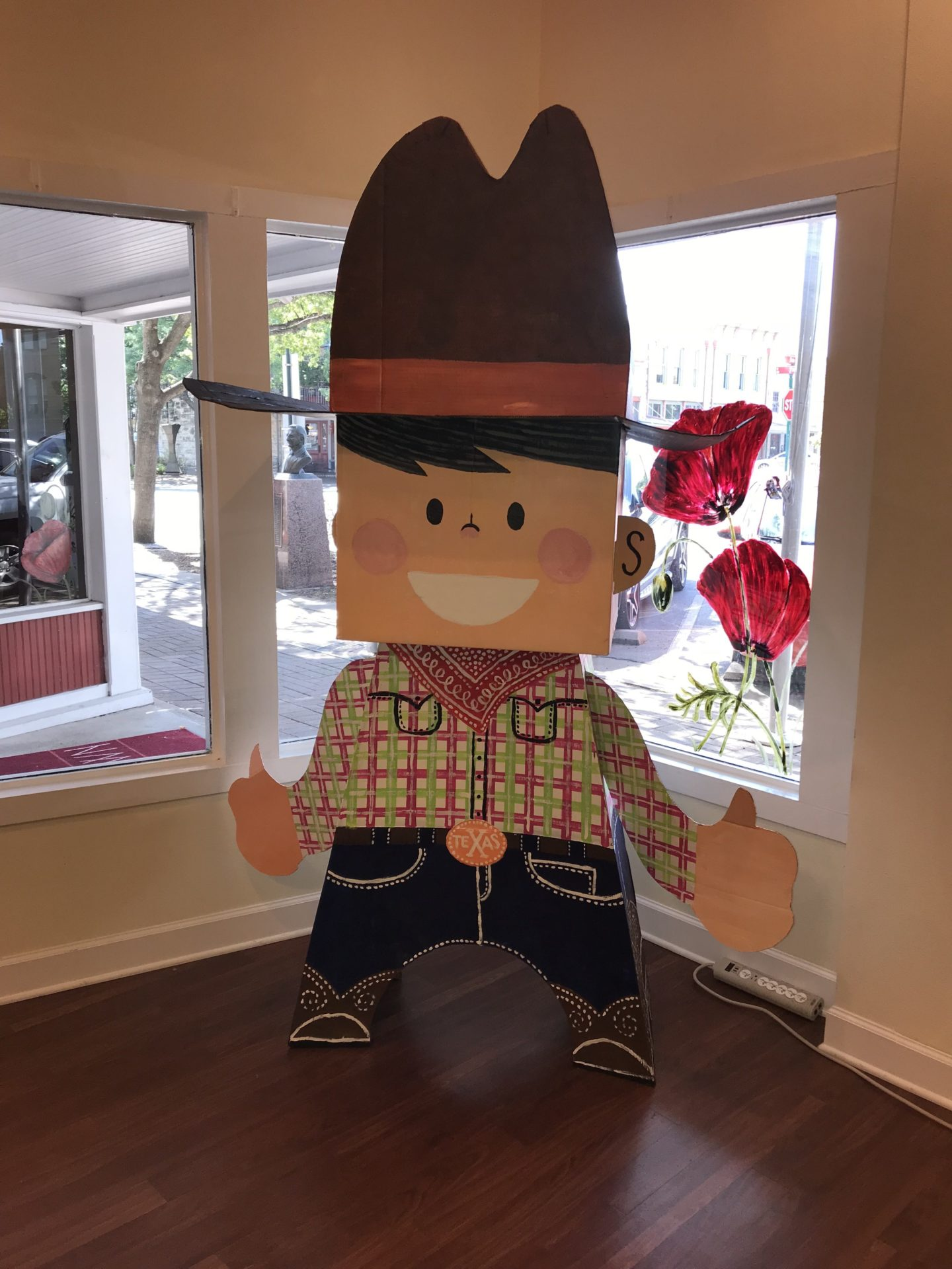 cowboy, cardboard, Georgetown, Texas